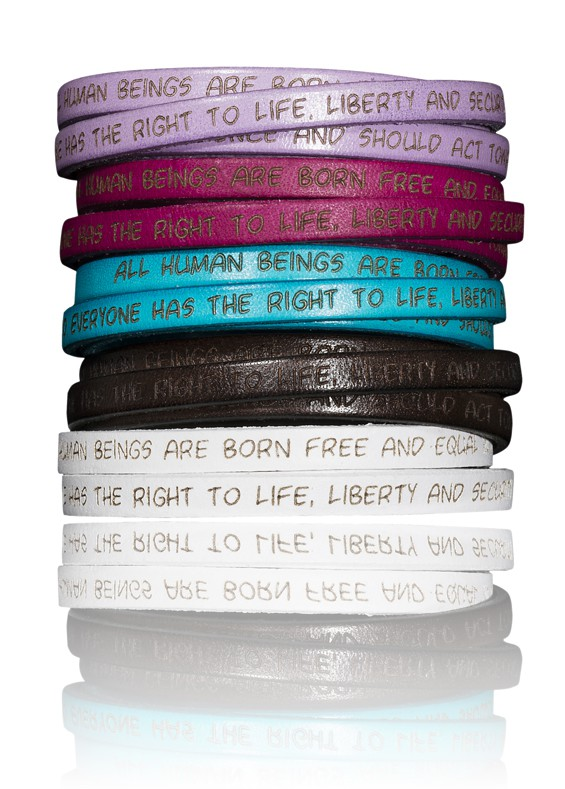 Human Rights Collection Jewelry Jewellery Leather Bracelets