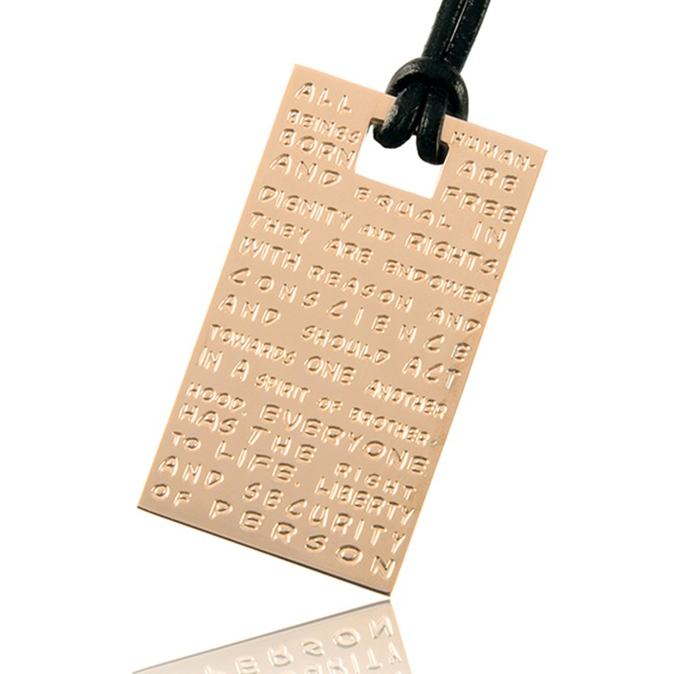 To Gilardy Jewels pendant rosegold rectangle