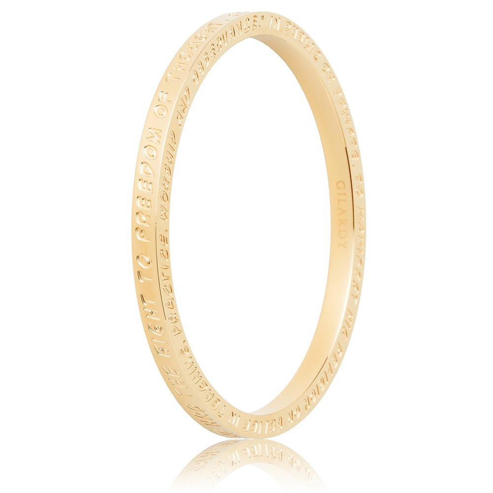 To Gilardy Human Rights Collection Bangle Yellowgold Closed