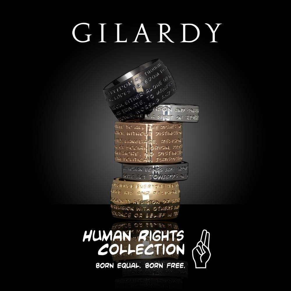 The the GILARDY HUMAN RIGHTS jewelry collection