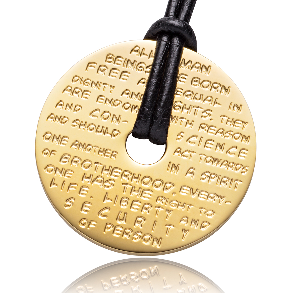 To the GILARDY HUMAN RIGHTS pendants
